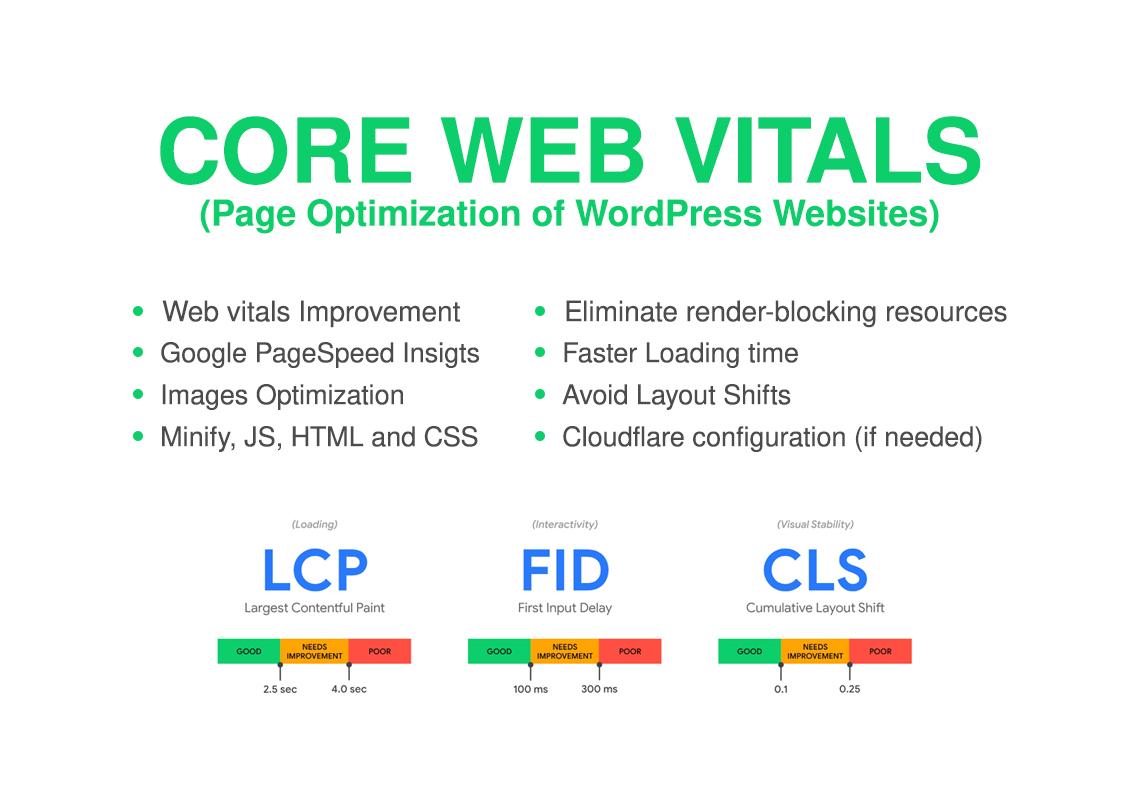 I will fix core web vitals of your wordpress websites
