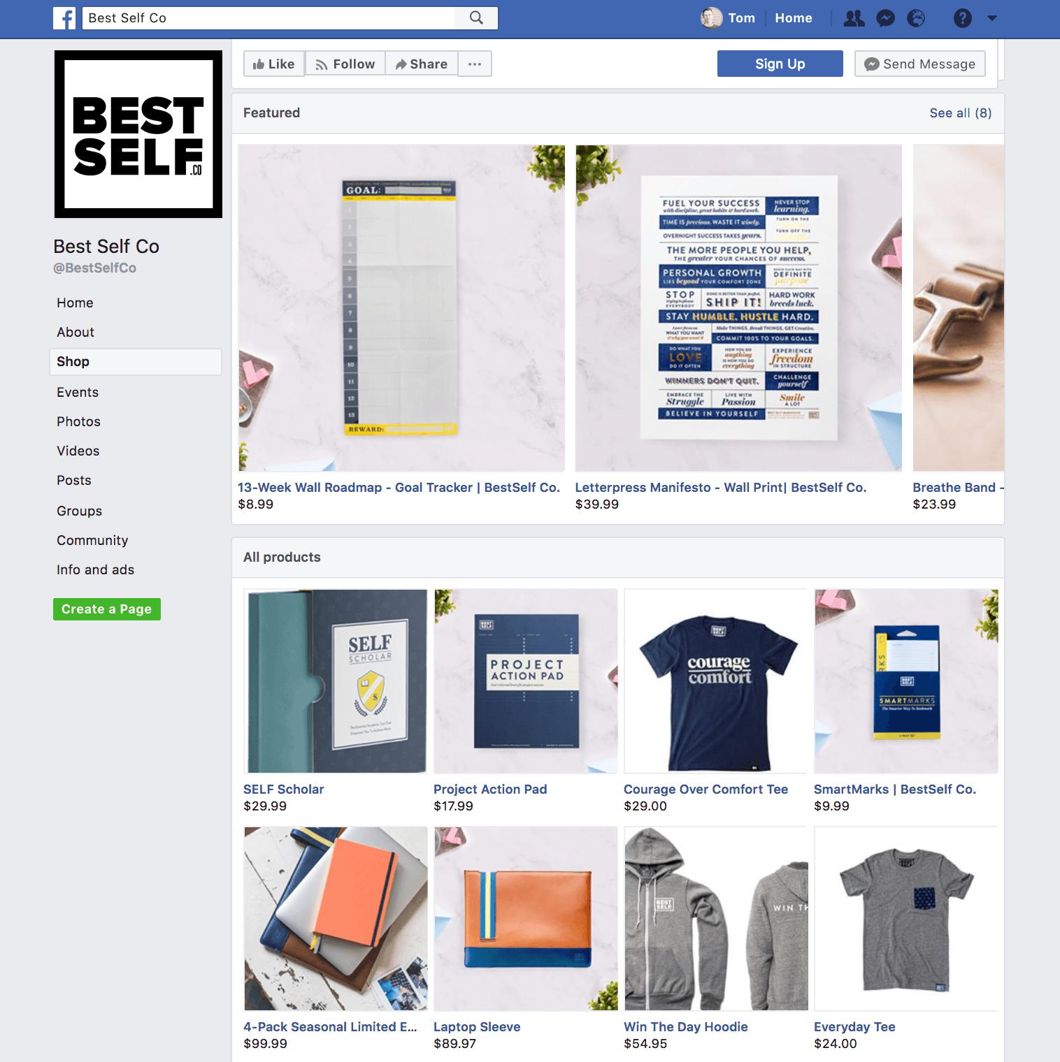 The Unique Facebook store generator