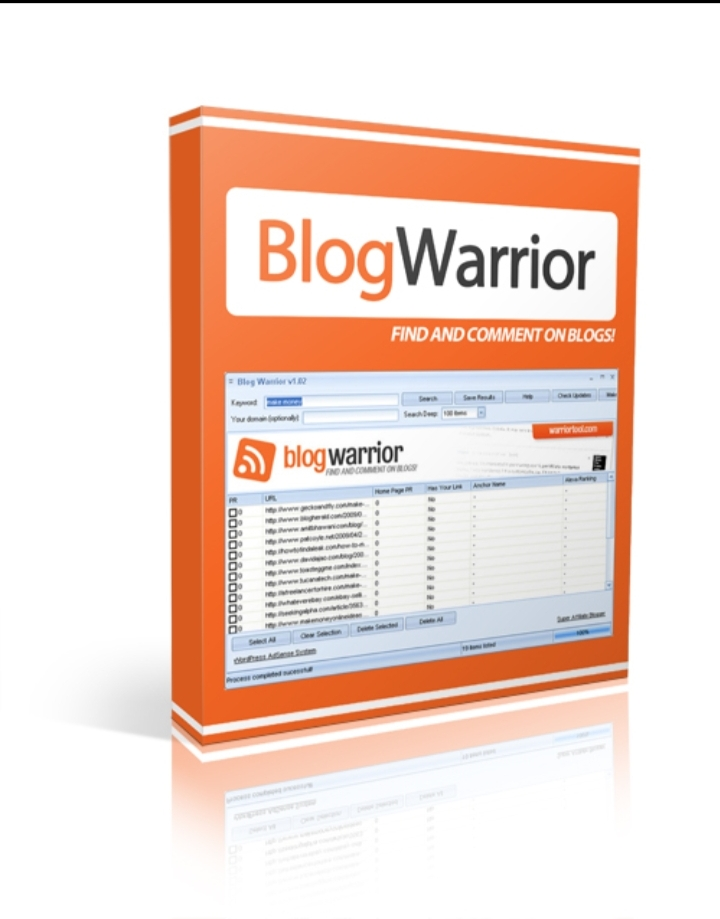 Blog Warrior find and comment blogs