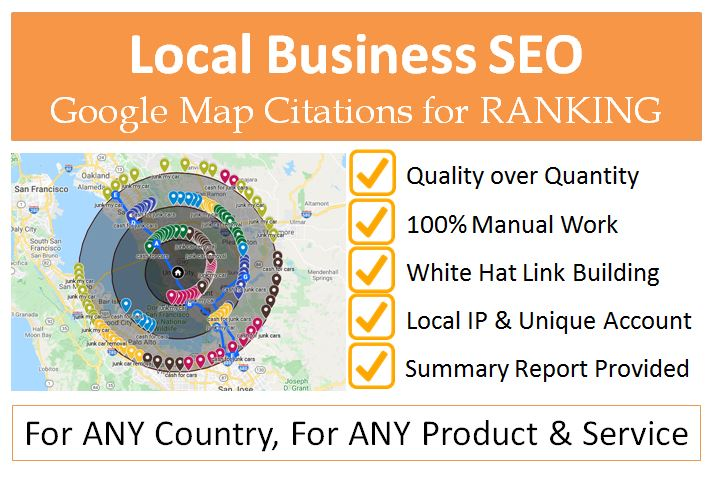 Get Google map citations to rank GMB and local business