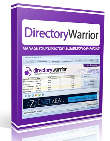 Directory Warrior software for manage your directory