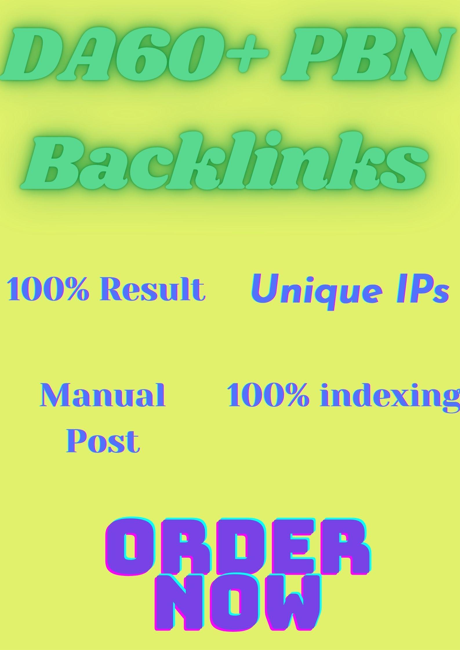 Get 40 High Quality DA 60+ Permanent HomePage PBN Links