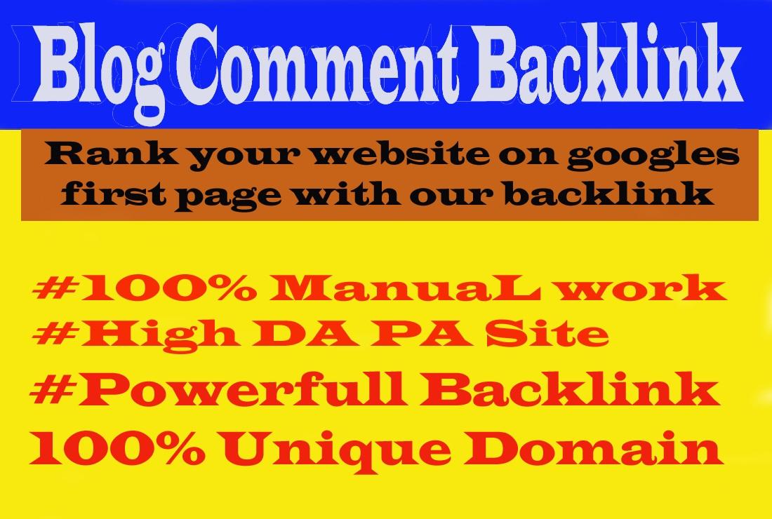 I will make 70 do-follow blog comment backlinks on the high DA PA blog.