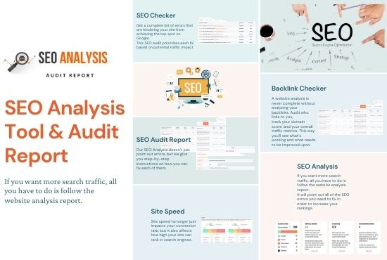 I will check your website SEO analysis tool and audit report