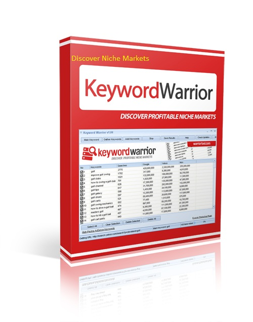 KeywordWarrior to discover Niche markets to get traffic