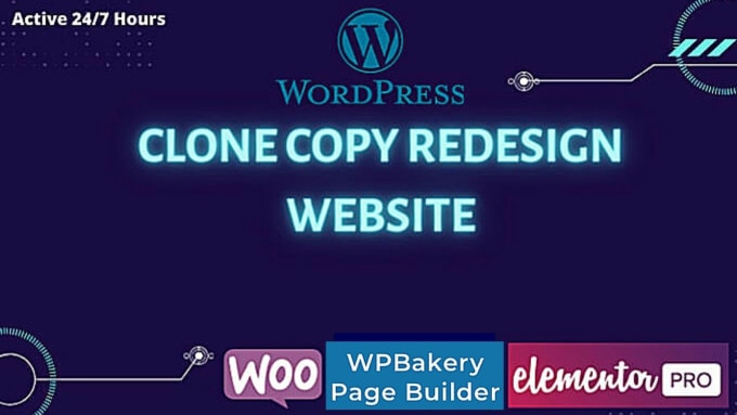 I will clone copy redesign website use elementor pro