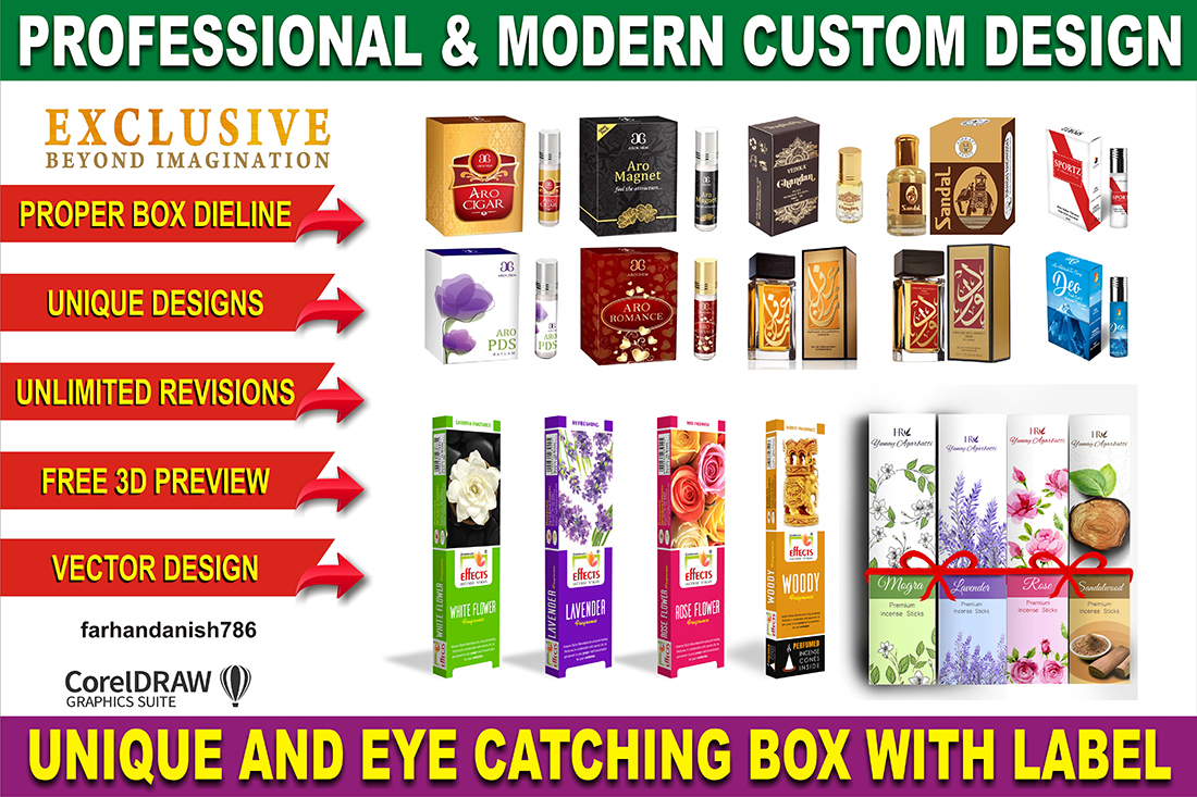 PRODUCT PACKAGING BOX & LABEL DESIGNING