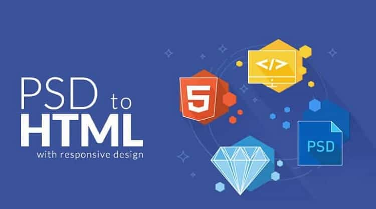 Convert PSD, figma, png, XD etc to responsive html css web page