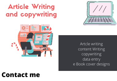 Write articles And Data entry operating