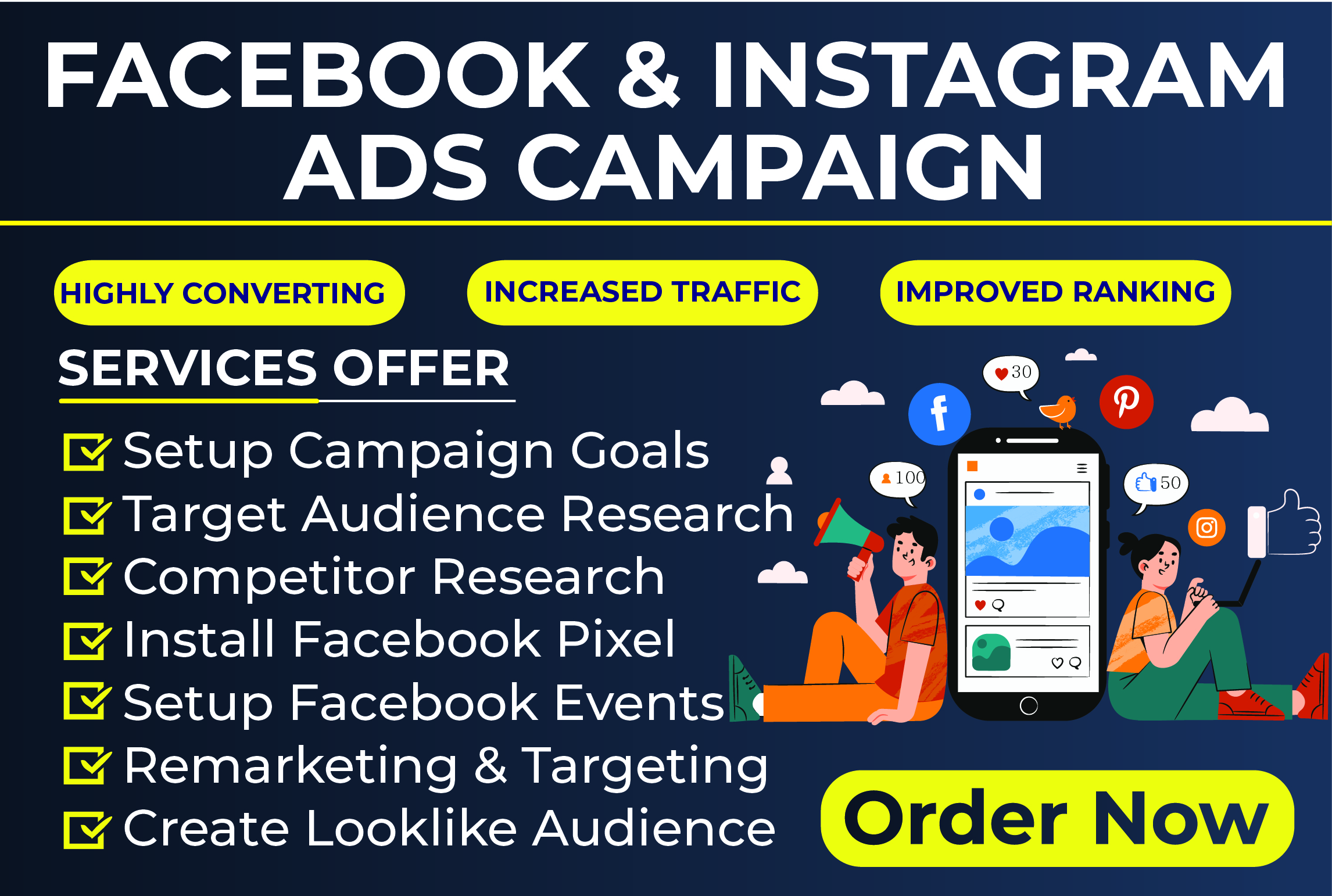 Set up Facebook and Instagram ads for leads and sales