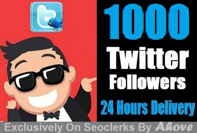 Start Instant 1000 Twitter Followers in Your Profile