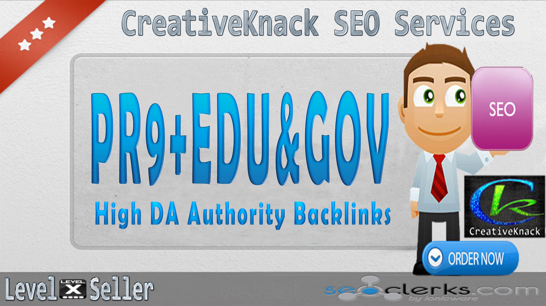 40+ PR9 Backlinks with 10+ .EDU/.GOV Authority Backlinks only