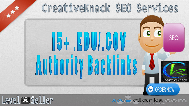 15+ .EDU/.GOV High Authority Backlinks only