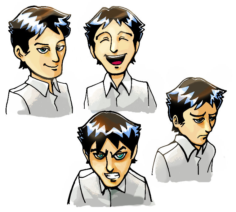 I will draw a character set of different expressions