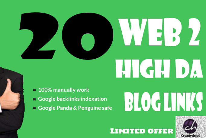 20+ High PR Web 2 Blog Links With unique article only
