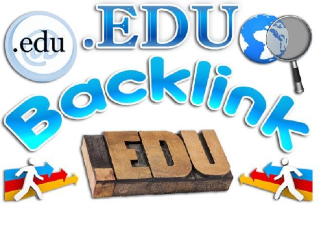 Generate 30 High PR edu backlinks for your Website through manual works