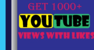 Let you 1000 HR YouTube views with 20 likes