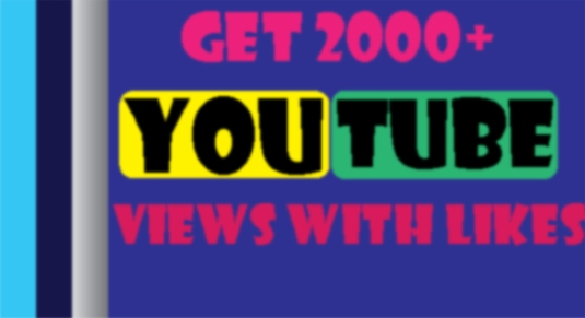 Let you 2000 HR YouTube views with 20 likes