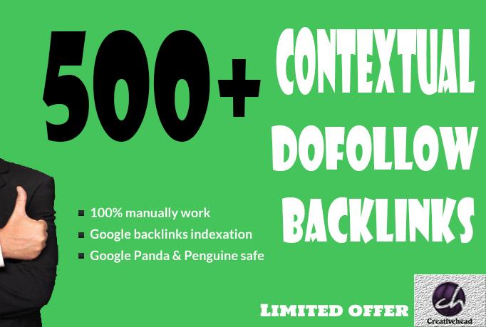 will do 500+ Contextual Dofollow Backlinks