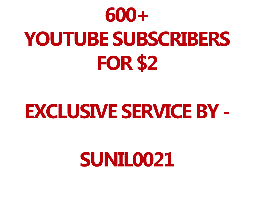 Real 500 Youtube Subs cribers