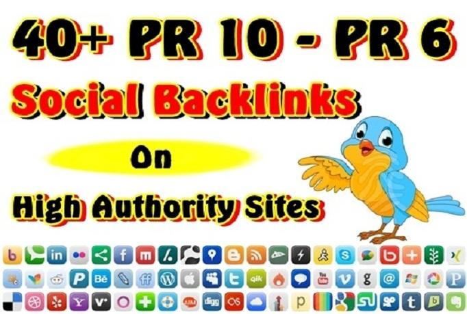 Provide 30 PR7 to PR8 Social Bookmarkings