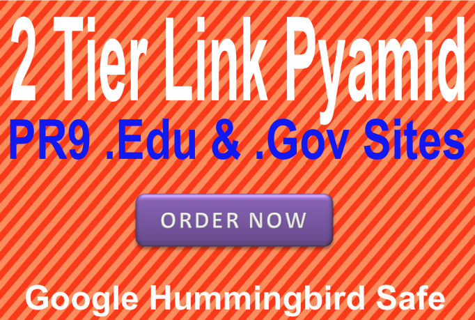 Provide 2 Tier seo Link Pyramid using Edu and Gov Domains with PR9 web2 Blogs