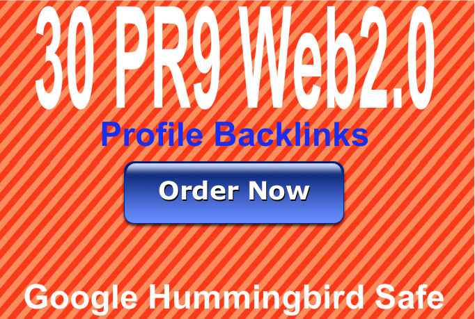 Create 30 Web2 Profile backlinks using PR9 domains Best For Seo