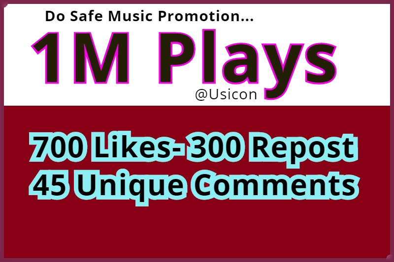 1M Safe PIays and 700 Likes-300 Repost 45 Unique Comments