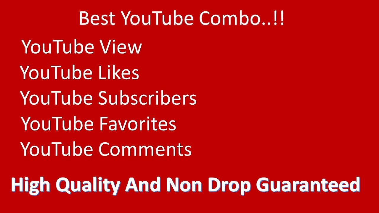 YouTube Splitable 9000-12000 Views 200 Likes 70 Subscribers,70 favorities, 10 Comments