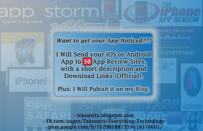 Submit your Android App to 50 App Review Sites