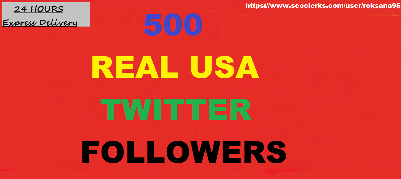 provide you 500 Twitteer Followers Instant