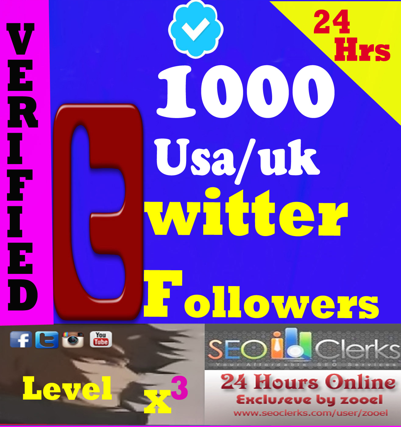 Cheapest 1000+ HQ USA-UK-Japan TwFollowers