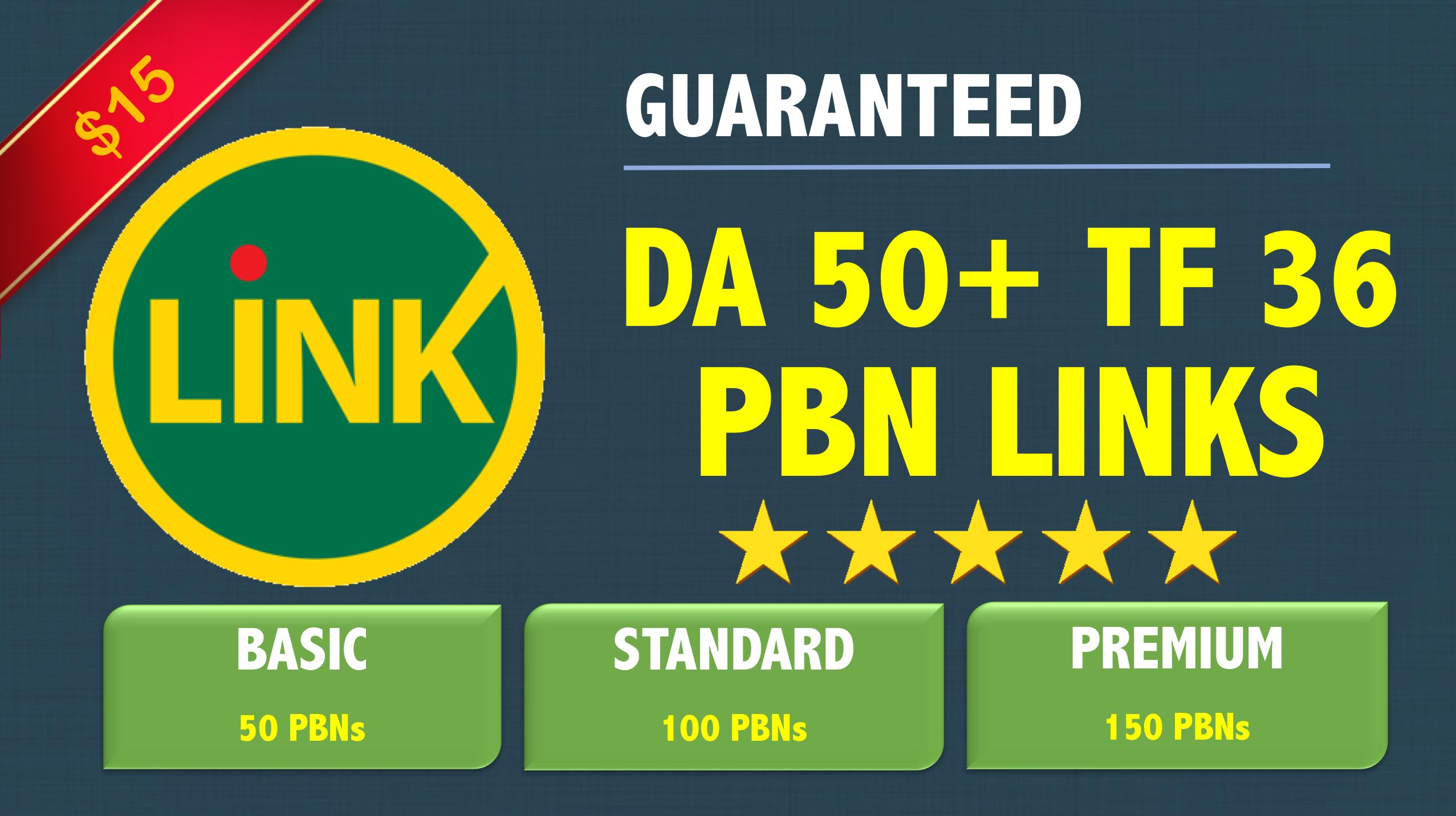 Create 50 Permanent PBN Posts [ DA 50+, TF 36+ ] Contextual DO-FOLLOW Backlinks
