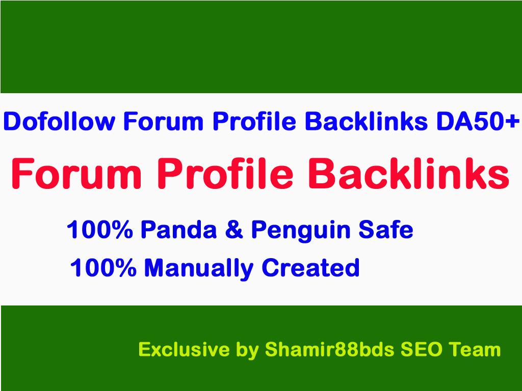 Dofollow 160 Forum Profile Links to Rank Higher DA50-100