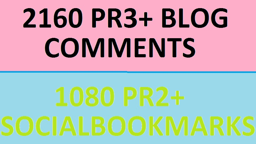 Wil Create 720 PR3+ Blog Commenting Backlinks + 240 PR1+ Social Bookmarks Drip Feeding over 30 Days