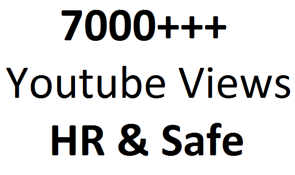 Get  6000 +++  High Retention and Safe video Promotion