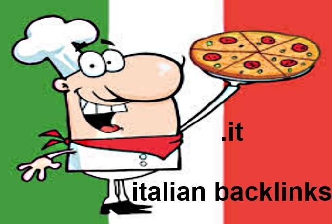 do 150 backlinks on italian IT italy blog domains