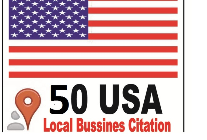 do 50 USA citation for your local business on Google