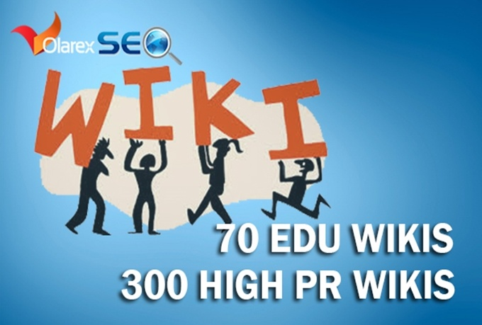 create 70 Edu backlinks and 500 PR1 to PR6 Wiki Sites