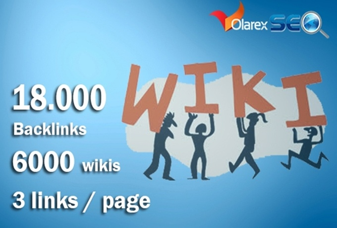 do 18000 contextual backlinks from 6000 WIKI pages including real seo edu links