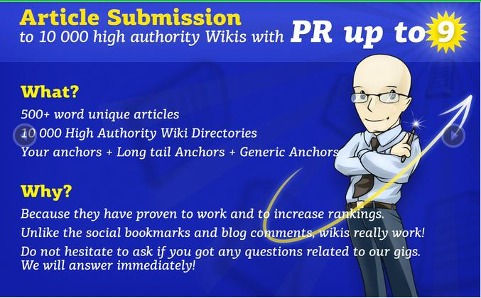 I will do article submission to 10 000 pr 9 edu sites