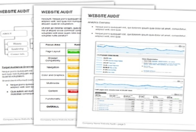 give you complete website audit report for google ranking