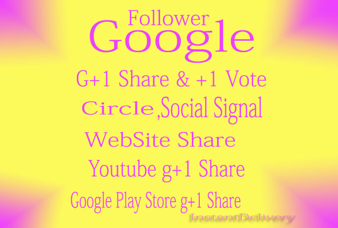 500 Google Circle follow to your Plus page or profile