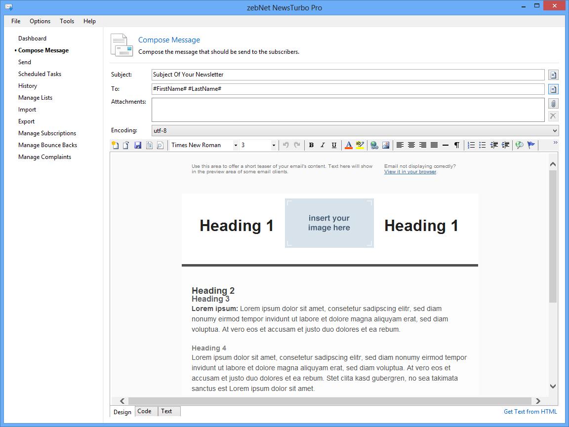 NewsTurbo Pro (Newsletter Software)