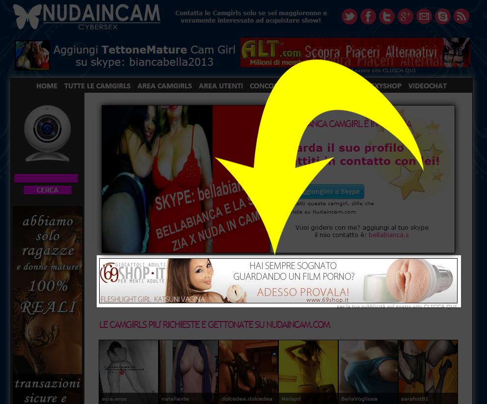 nudaincam add your link banner 728x90 for 31 days on Nudaincam. com for
