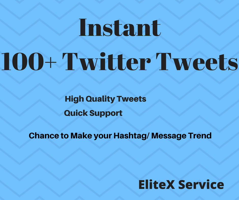 Instant 100+ HQ Twitter Tweets