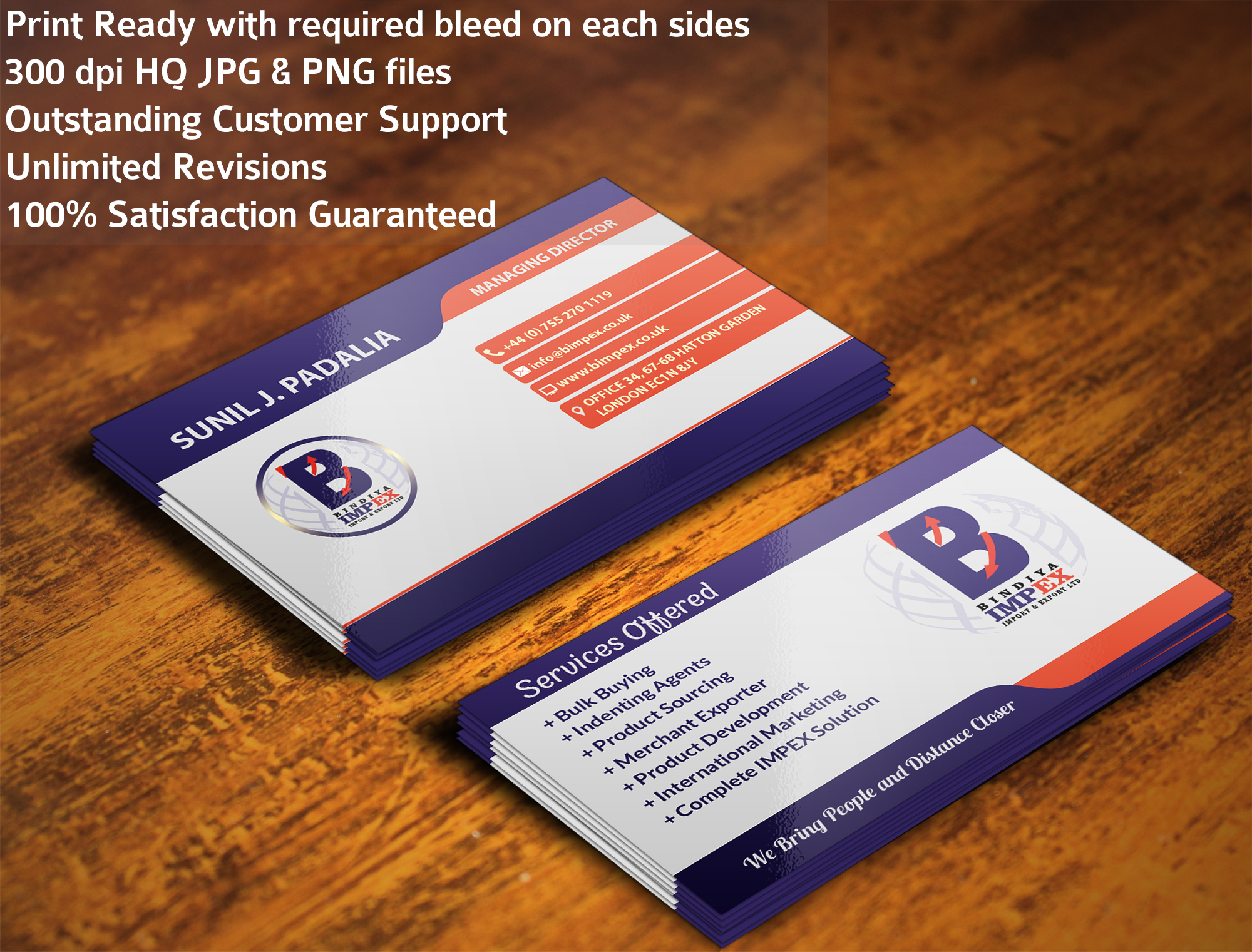 I will design an Eye Catching Business Card with bonus