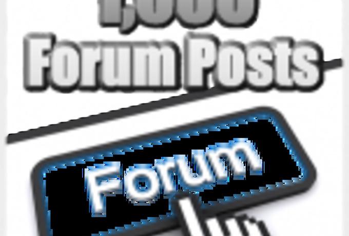 create 2400 High Pr DoFollow SEO backlinks from Forum Posts