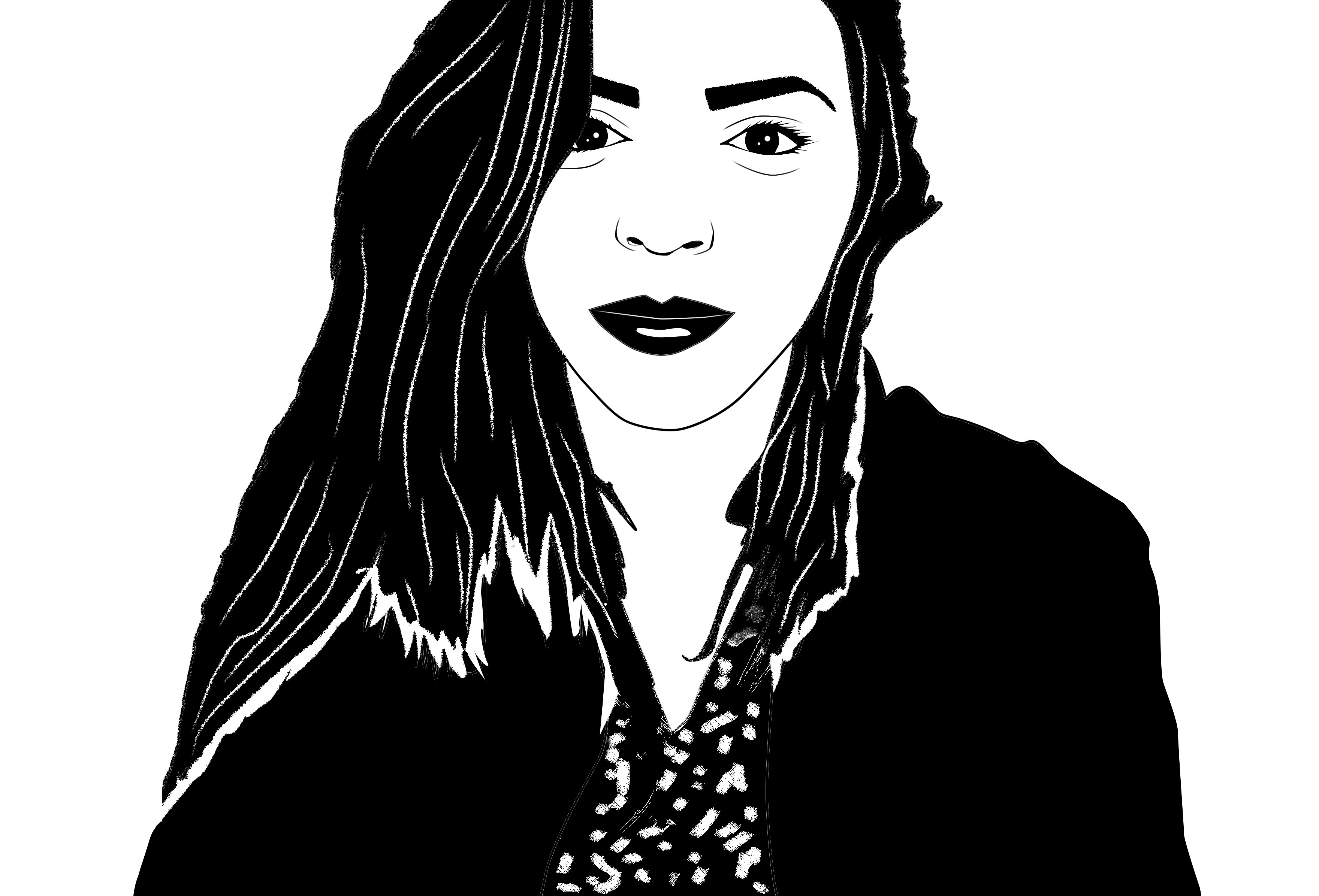 DRAW BLACK AND WHITE PORTRAIT OF YOU