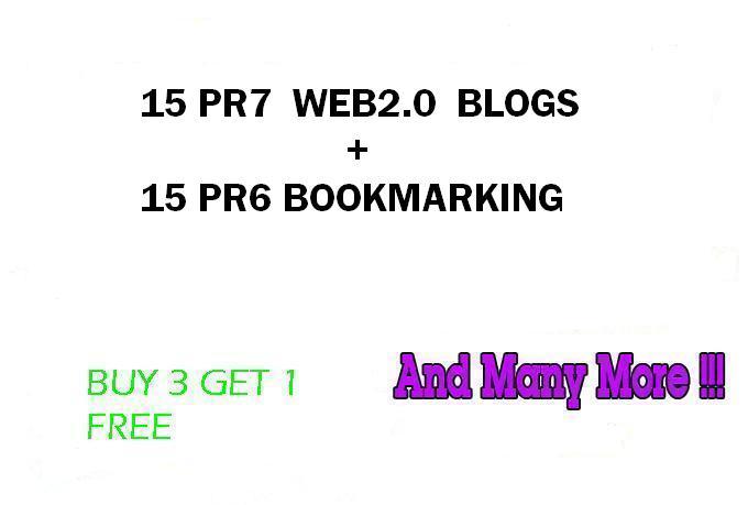 Hummingbird safe 15 PR7 Web2 Blogs and 15 PR6 Social Bookmarking
